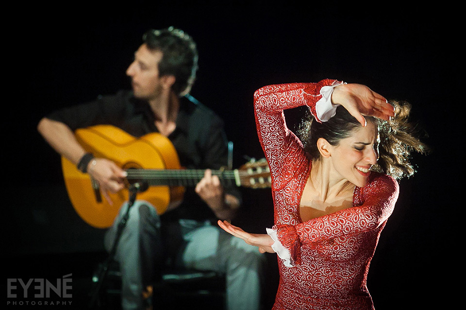 Huri : Flamenco dance performance at Tirgan Festival. Toronto, Canada. Photo : Mahsa Khalili/ EYENÉ