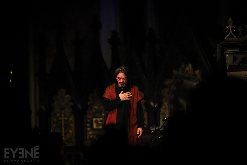 Hossein Alizadeh, master of iranian classical music, performing at Church of Holy Trinity. Toronto, Canada. Photo: Saman Aghvami/ EYENÉ