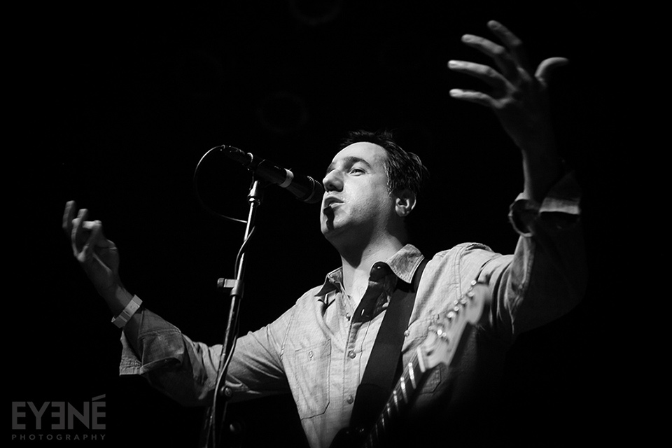 Arash Sobhani of Kiosk band performing at Mod Club. Toronto, Canada. Photo: Saman Aghvami/ EYENÉ