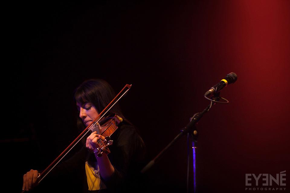 Tara Kamangar of Kiosk band performing at Mod Club. Toronto, Canada. Photo: Saman Aghvami/ EYENÉ